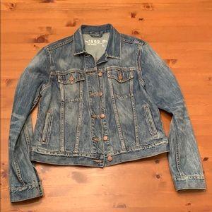 GAP 1969 Distressed Denim Jacket, Large